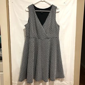 Lane Bryant polka dot dot and flare dress size 18